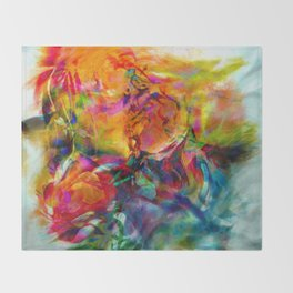 abstract about wine, flowers, party Throw Blanket