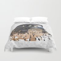 millenium falcon Duvet Covers featuring Falcon by Kozza