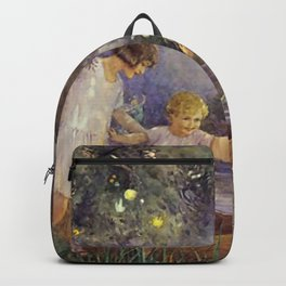 """""""Boat To Fairyland"""" by Margaret Tarrant Backpack"""
