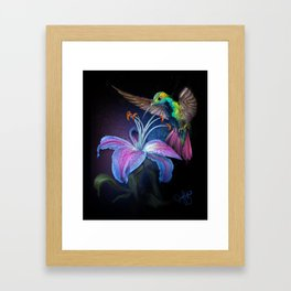 The Stargazer and The Hummingbird Framed Art Print