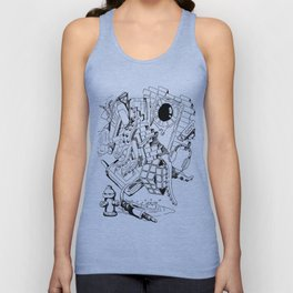 Collage of Thoughts Unisex Tank Top