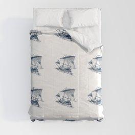 Nautical Marine Anchor Ship Seamless Pattern Comforters