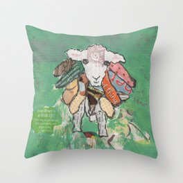 Cultured Sheep Throw Pillow