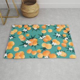 Orange Twist Flower Vibes #8 #tropical #fruit #decor #art #society6 Rug