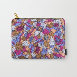 Rustic Swirly Flowers Carry-All Pouch