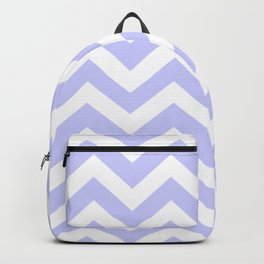 Periwinkle - grey color - Zigzag Chevron Pattern Backpack