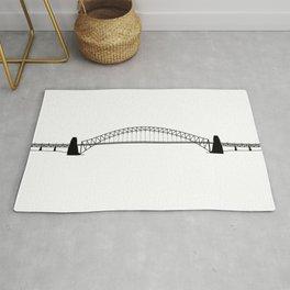 Sydney Harbour Bridge Silhouette Rug