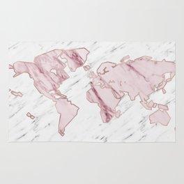 Wanderlust marble - pink stone Rug