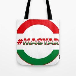 Hashtag Magyar, circle, color Tote Bag