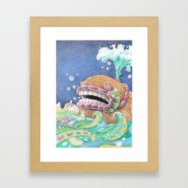 Whaleship Framed Art Print