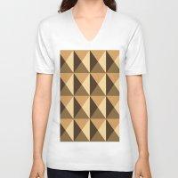 copper V-neck T-shirts featuring Copper by Fernanda Fattu