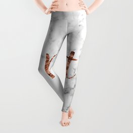 Rose gold marble - brat Leggings