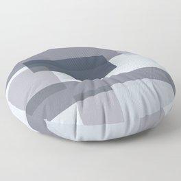 Overlay in Blue Floor Pillow
