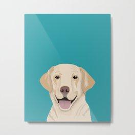 Golden Labrador Retriever modern minimal pet friendly dog person gift for labrador owner must have Metal Print