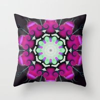 neon Throw Pillows featuring Neon by IowaShots