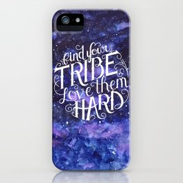 Find Your Tribe Watercolor iPhone Case