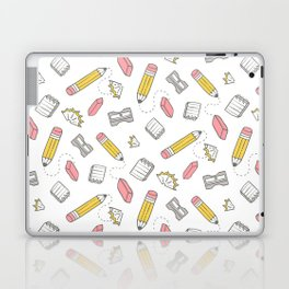 Pencil, eraser, sharpener. Laptop & iPad Skin