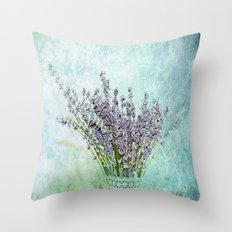 Lavender bouquet Throw Pillow