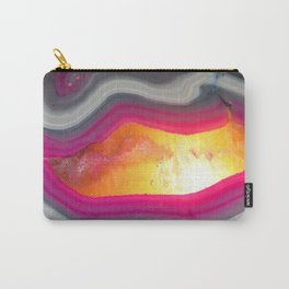 Pink Geode Glow Carry-All Pouch