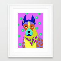 great dane Framed Art Prints featuring Great Dane by Ladybumblebee
