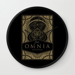Omnia Oscura tuck box Wall Clock