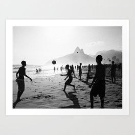 Beach Soccer at Ipanema Art Print