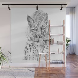 On the Prowl :: A Young Bobcat Wall Mural