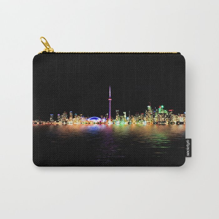 Toronto Skyline At Night From Centre Island Reflection Carry-All Pouch