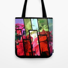 Mixed color Poinsettias 3 Tinted 1 Tote Bag