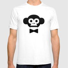 smart monkey Mens Fitted Tee SMALL White