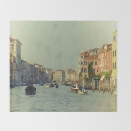 Venice, Grand Canal 1 Throw Blanket