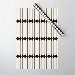Minimal Geometric Pattern - Black and White Wrapping Paper
