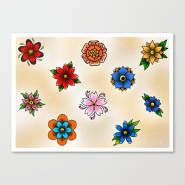 Floral Sheet 2 Canvas Print