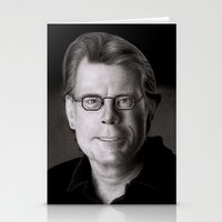 stephen king Stationery Cards featuring Stephen King by Giampaolo Casarini