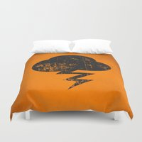 misfits Duvet Covers featuring Cloud and Storm by Nxolab