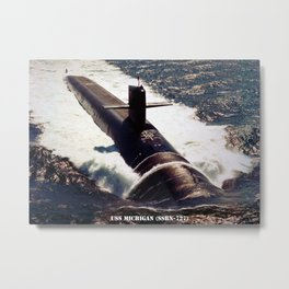 USS MICHIGAN (SSBN-727) Metal Print