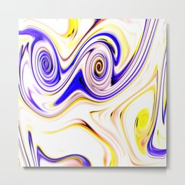 Waves and swirls, abstract, patterns piece no 15 Metal Print