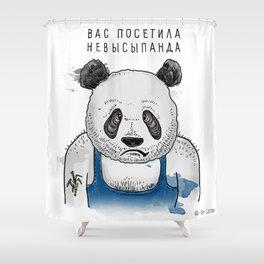Sleepless Panda Bear Shower Curtain
