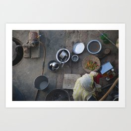Learning to Cook from Above Art Print