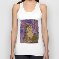 queer Tank Tops featuring Queer Buddha ~ Invocation  by Jamila