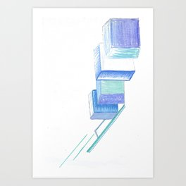 Play With Blocks Art Print