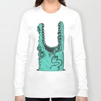 crocodile Long Sleeve T-shirts featuring Crocodile! by andres lozano