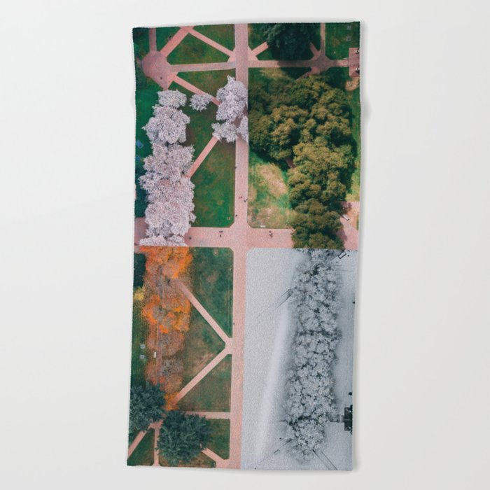 UW Cherry Blossoms: 4 Seasons Beach Towel