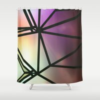 one line Shower Curtains featuring Line One by Jillian VanZytveld