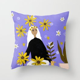 FLOWERS ARE BEAUTY Throw Pillow