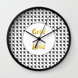 Gold & Bold Wall Clock