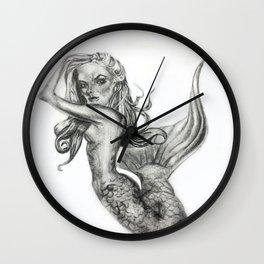 Mermaid Fantasies Wall Clock