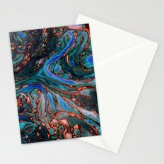 Marbled Darkness Stationery Cards