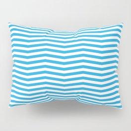 Oktoberfest Bavarian Blue and White Chevron Stripes Pillow Sham