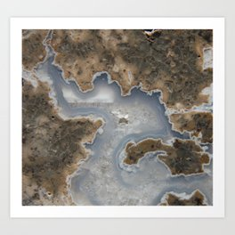 Abstract Rhyolite & Agate Art Print